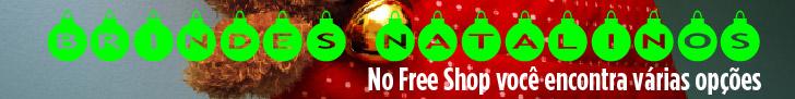 Brindes natalinos voc� encontra no portal Free Shop Brindes