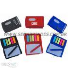 Brindes Personalizados - Bloco de anota��es com adesivo, caneta e porta cart�o. Sua marca evidenciada em um produto de qualidade!