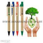 Sena Brindes - Caneta em papel reciclado pardo. Preserve a natureza e evidencie sua marca!