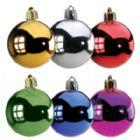 Bolade Natal nos diâmetros de 30mm até 120 mm, com pintura Metalizada em diversas cores