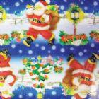 Saco de Presente Metalizado Estampado Natal