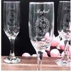 Taça de vidro para espumante PM Wind 180 ml personalizada