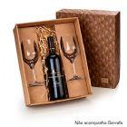 Marca Laser - Kit vinho personalizado, caixa para presente com 02 ta�as de vidro para vinho 380 ml e espa�o para garrafa de 750 ml. (N�o acompanha garrafa). Sua mar...