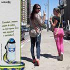Suporte de garrafa para �gua mineral, com fita personalizada, e regulador de altura - Caminhar, passear e pedalar ficou ainda mais saud�vel com o Waterclic
