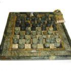 Armaz�m Brasileiro - Jogo personalizado de xadrez e dama com pe�as e tabuleiro em pedra sab�o envernizada. Medidas: 23 x 23 cm. Um jogo cl�ssico com sofistica��o para entr...