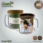 Foto T�rmica Color Green Coco: Caneca pl�stica, at�xica, formada com corpo cristal e refil Eco Sustent�vel formado por 50% de Fibra Natural de Coco