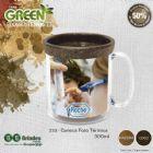BB Grupo - A Caneca Foto T�rmica Color Green pode ser em Coco ou Madeira: Caneca pl�stica injetada, at�xica, formada com corpo cristal e refil Eco Sustent�vel qu...