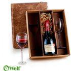 Brindes Personalizados - Jogo de ta�as de vidro para vinho 330 ml - 2 p�s