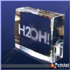 Cristal Image - Bloco Personalizado em Cristal 100% transparente com grava��o laser no interior da pe�a em 2D ou 3D. Pode ser gravado na posi��o horizontal ou vertica...