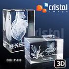 Cristal Image - Bloco / Placa personalizada em Cristal 100% transparente, com grava��o a laser 2D ou 3D no interior da pe�a. Frente inclinada como diferencial visual...