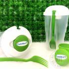 Caneca de porcelana (220ml) personalizada embalada com celofane, fita e tag personalizada.