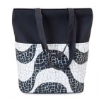 Bolsa confeccionada em material 100% algodão, alça dupla de ombro, bolso frontal