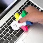 Marca texto boneco com limpador de tela e teclado