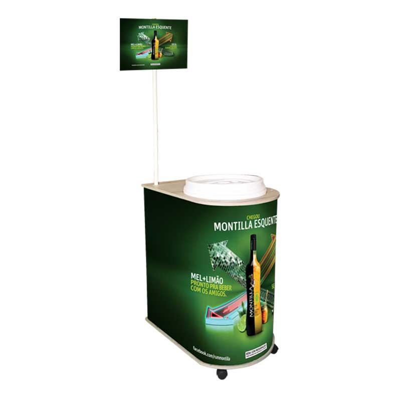 Balcão de Degustação Modelo Quality com Cooler isotérmico com tampa e  capacidade para 75 latas- 7fee7e5ddc
