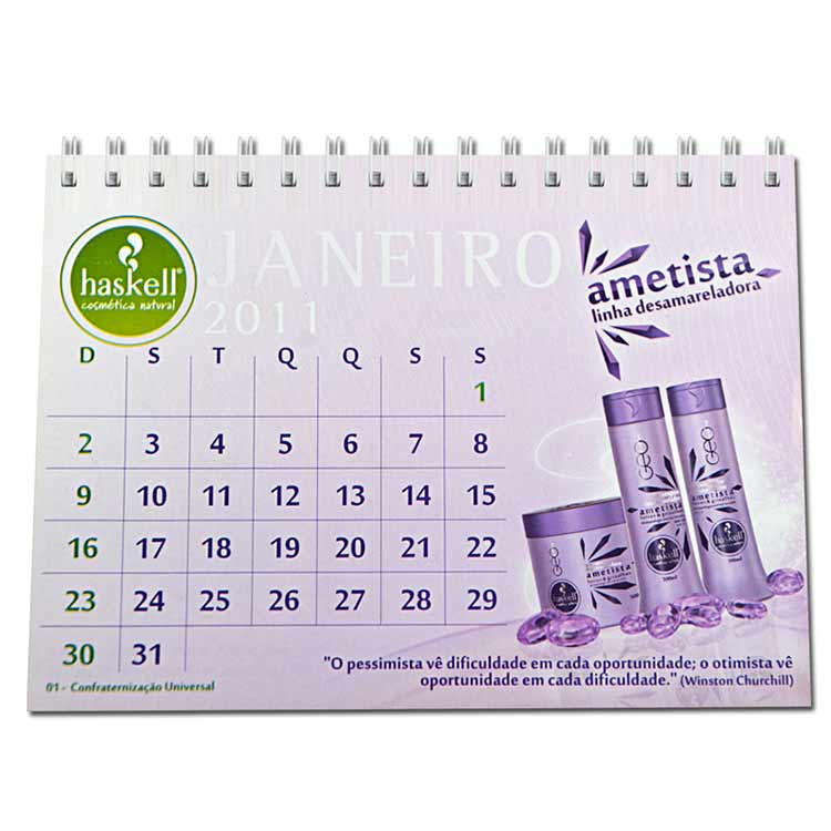 Calend rio de mesa personalizado medidas 11 x 15 cm 6 - Calendario de mesa ...