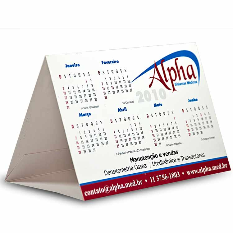 Calend rio de mesa personalizado tri ngulo medidas 10 - Calendario de mesa ...