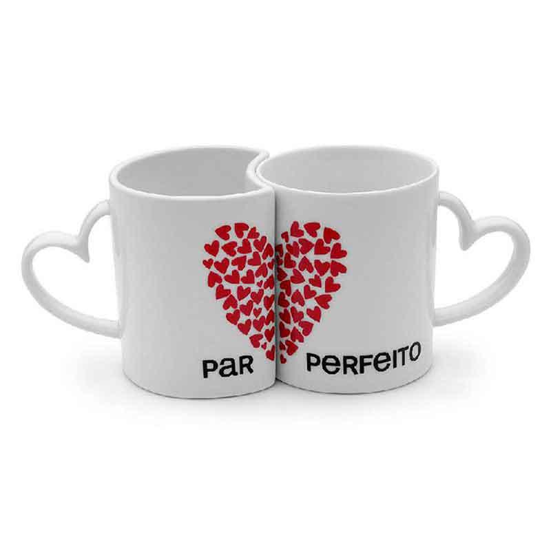 Caneca Personalizada Para Dia Dos Namorados Com Alça De Coração