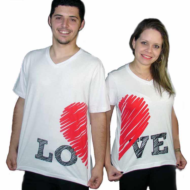 54c67773ab143 Camiseta 100% Algodão gola V - 153340