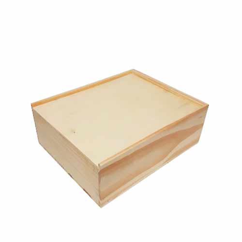 754b3704417 Estojo personalizado alto de madeira natural