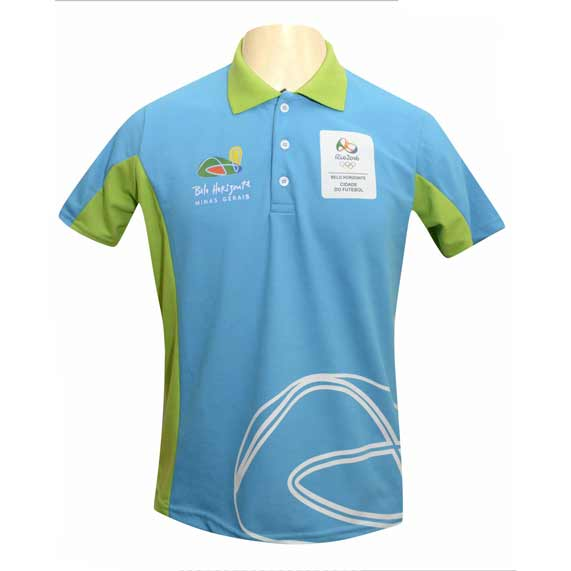 3c8d5e227 Camiseta gola pólo cor azul turquesa - 178516