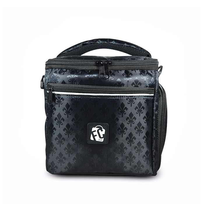 497187e2f Bolsa Térmica Fitness Compacta // Onix Preta Acetinada Ideal para carregar  até 7 (sete