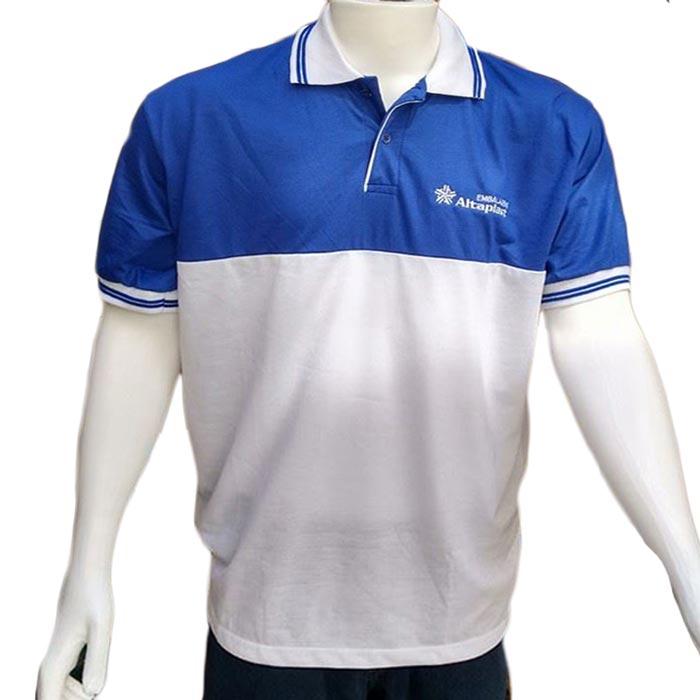 af03fe9f6 Camiseta polo masculina com recorte e braçadeiras personalizadas ...