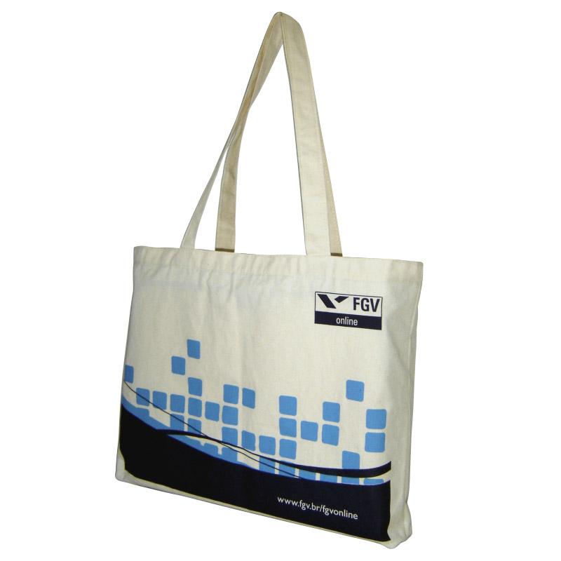 6a94cf20e Ecobag ou bolsa personalizada em lona de algodão cru (artigo 150 g / m²)