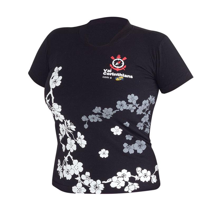 Camiseta ou babylook promocional com malha cardada   penteada e ... fcc3066be940d