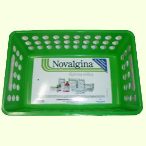 wigon - Cesto para farmácia com gravação personalizada.