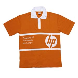 Camisa pólo com estampa em silk- screen 6fd3da0545b8f