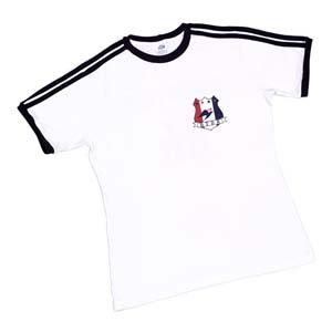 JC Confecções - Camiseta baby look com 2 Listras nas mangas e ombros, personalizada com diversas gravações e cores. Sua marca representada com estilo e qualidade!