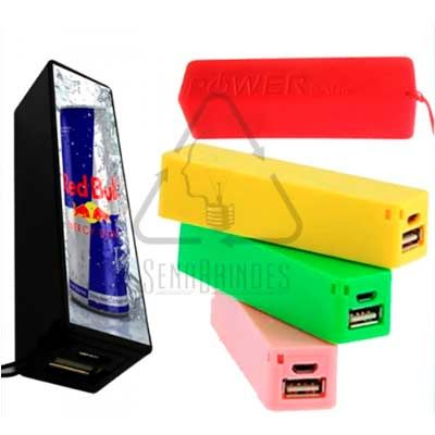 Sena Brindes - Carregador Portátil USB Personalizado