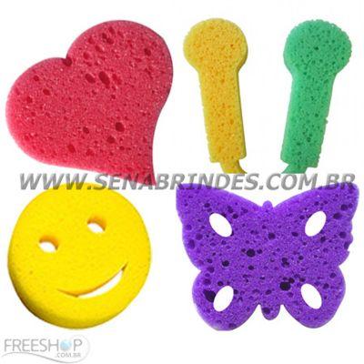 Sena Brindes - Esponjas de banho com modelos diversos.