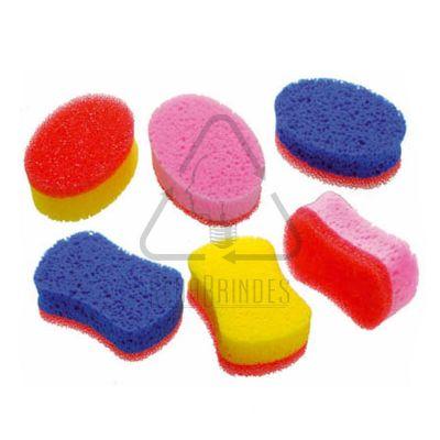 Sena Brindes - Esponja/Espuma de banho dupla face, infantil e adulto, modelos e cores variadas