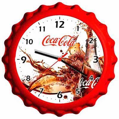 mirus-relogios - Relógio de parede com formato de tampa personalizado em diversas cores.