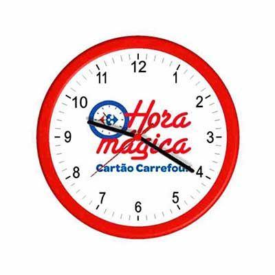 Mirus Relógios - Relógio de parede redondo personalizado em diversas cores.