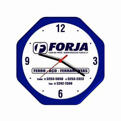 mirus-relogios - Relógio de parede oitavado personalizado em diversas cores.