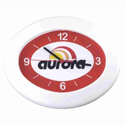 mirus-relogios - Relógio de parede oval personalizado em diversas cores, com garantia de 1 ano.