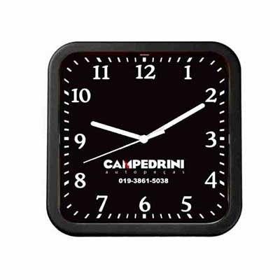 mirus-relogios - Relógio de parede quadrado personalizado em diversas cores.