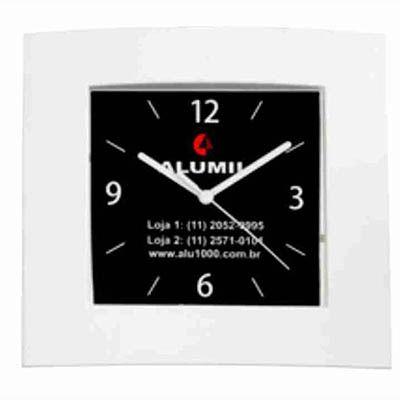 mirus-relogios - Relógio de parede retangular personalizado em diversas cores.
