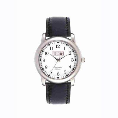mirus-relogios - Relógio de pulso analógico com pulseira de couro, garantia de 1 ano.
