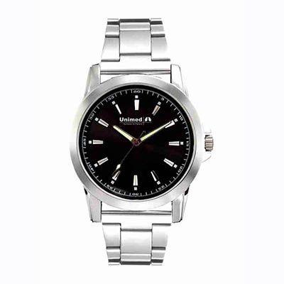 Relógio de pulso analógico confeccionada em metal, com garantia de 1 ano.