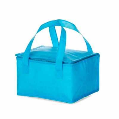Bolsa térmica 10 litros em TNT com alça para mãos, revestimento interno de manta térmica. Medidas...