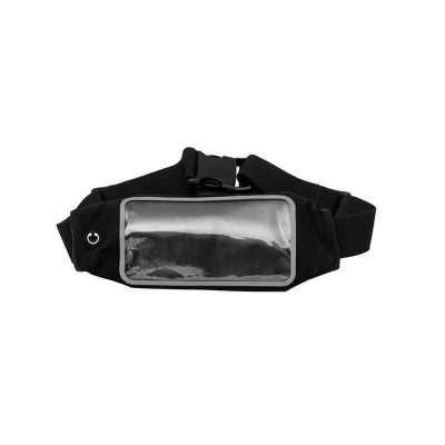Pochete neoprene com visor plástico transparente.