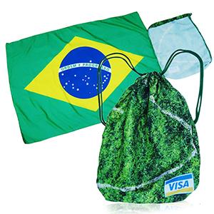 Ato Produtos Promocionais - Sacochila cordão vira bandeira, personalizada com sublimação, confeccionada em nylon