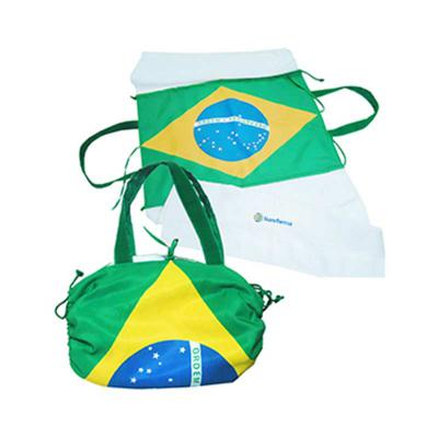 ato-produtos-promocionais - Bolsa toalha sublimada com a bandeira do Brasil. Personalização em bordado na toalha