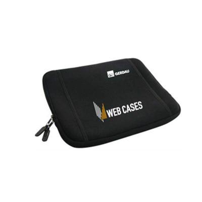 ato-produtos - Capa para notebook de 15 polegadas em neoprene com bolso externo e zíper.
