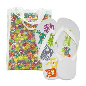ato-produtos - Kit Bolsa em PVC + Chinelo Havaianas Top com gravação personalizada.