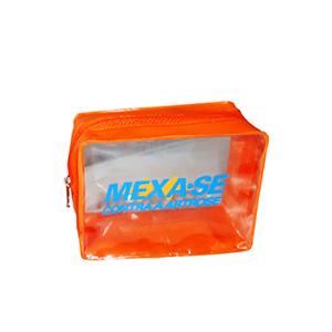 ato-produtos - Embalagem confeccionada em PVC com zíper e gravação personalizada.