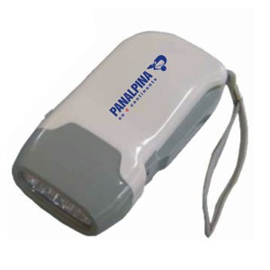 Lanterna ecológica com gravação personalizada e que não utiliza pilhas. - Ato Produtos Promocionais